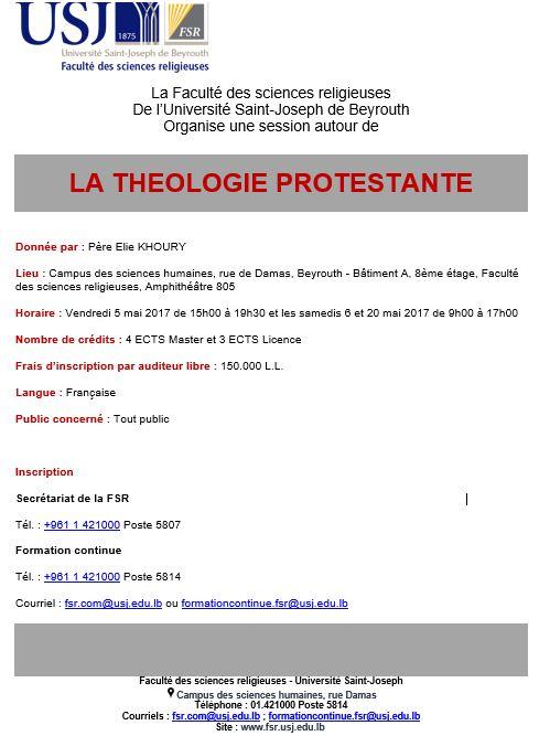 la theologie protestante