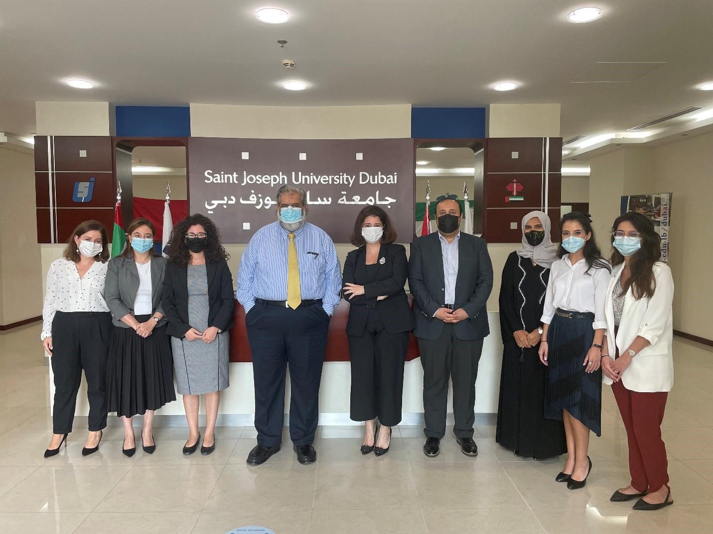 Saint Joseph University Dubai receives two visits from the CAA - Saint Joseph University - Dubai
