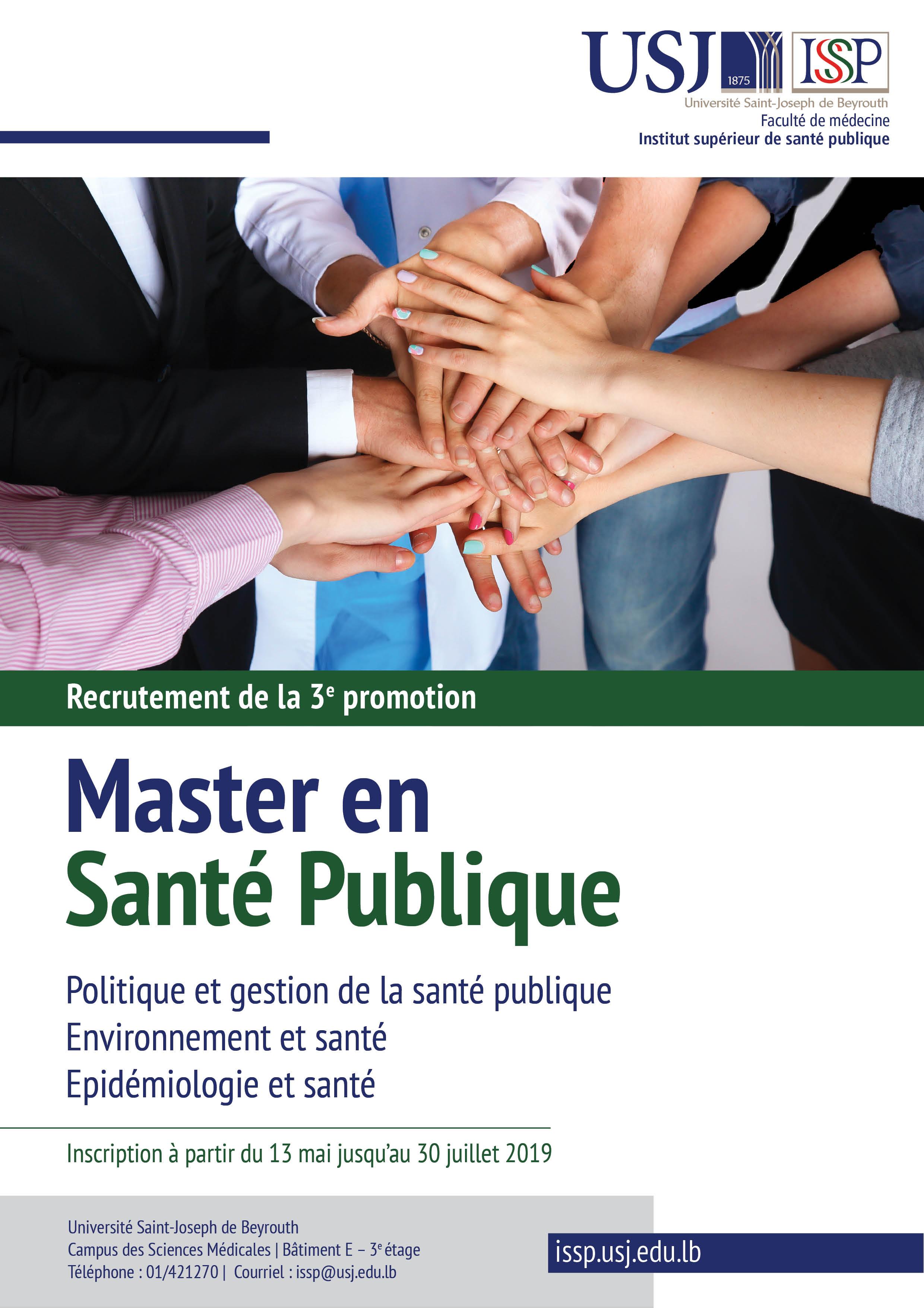 magasin en ligne 78448 d5a14 Institut supérieur de santé publique - [Université Saint ...
