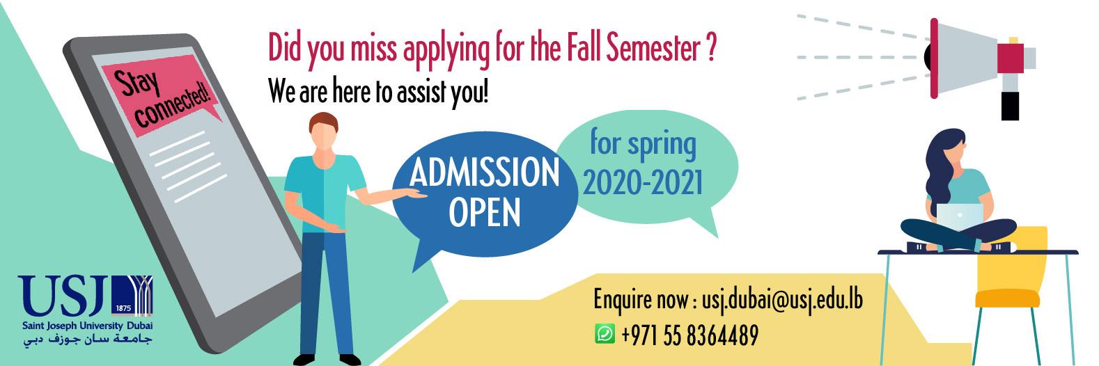 Spring Admission - Saint Joseph University - Dubai