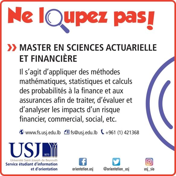 Master en sciences actuarielle et financière