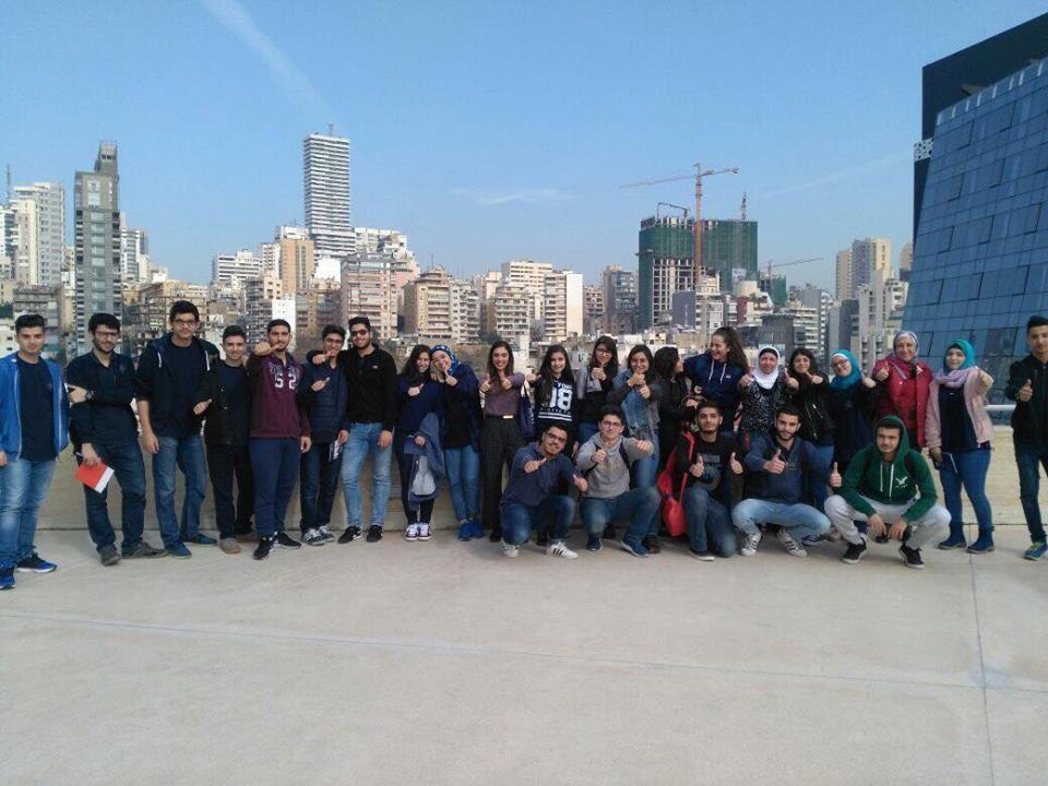 Les élèves du Collège Khaled Bin El Walid durant la journée d'orientation organisée par le SIO de l'USJ