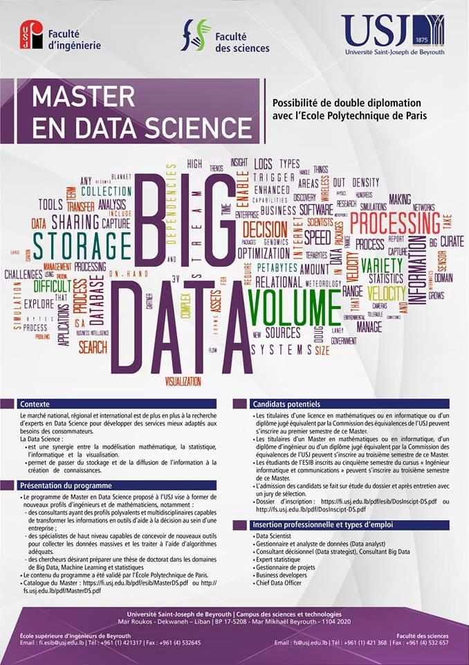 Lancement d'un nouveau Master en Data Science à l'USJ