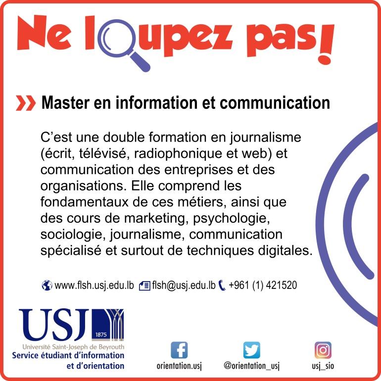 Master en information et communication