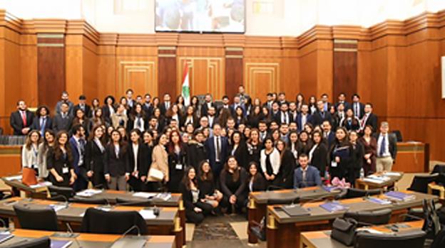 Les étudiants de l'USJ au Parlement libanais !