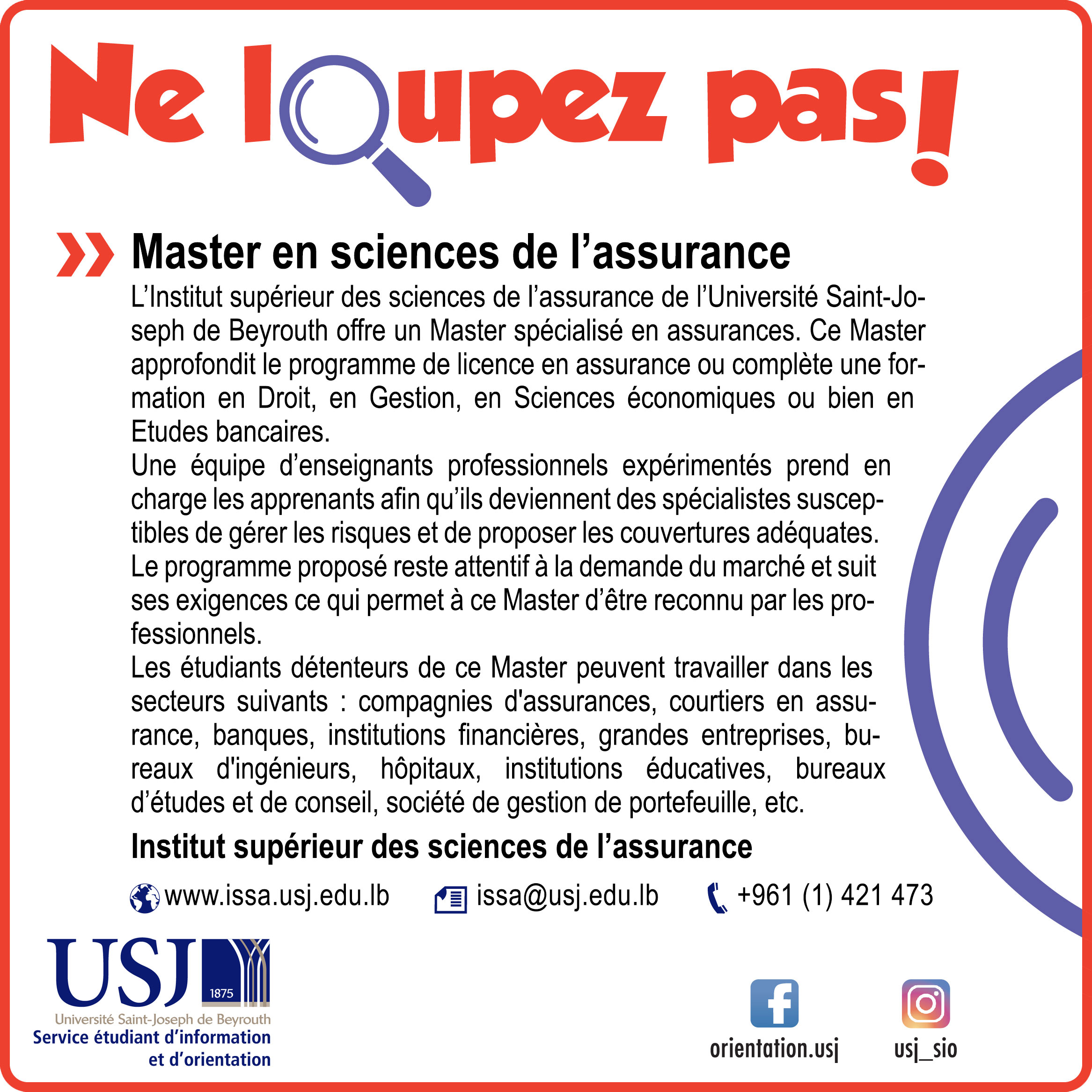 Master en sciences de l'assurance