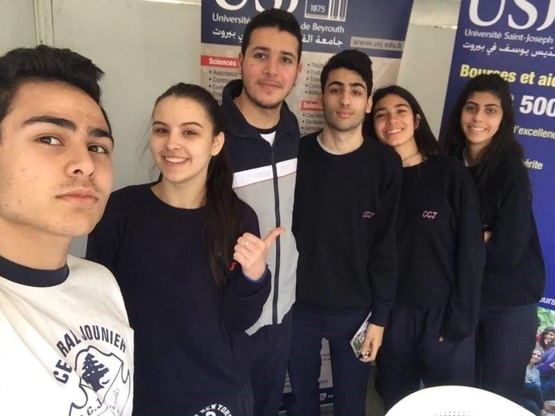 Les élèves du Collège 'Central' Jounieh