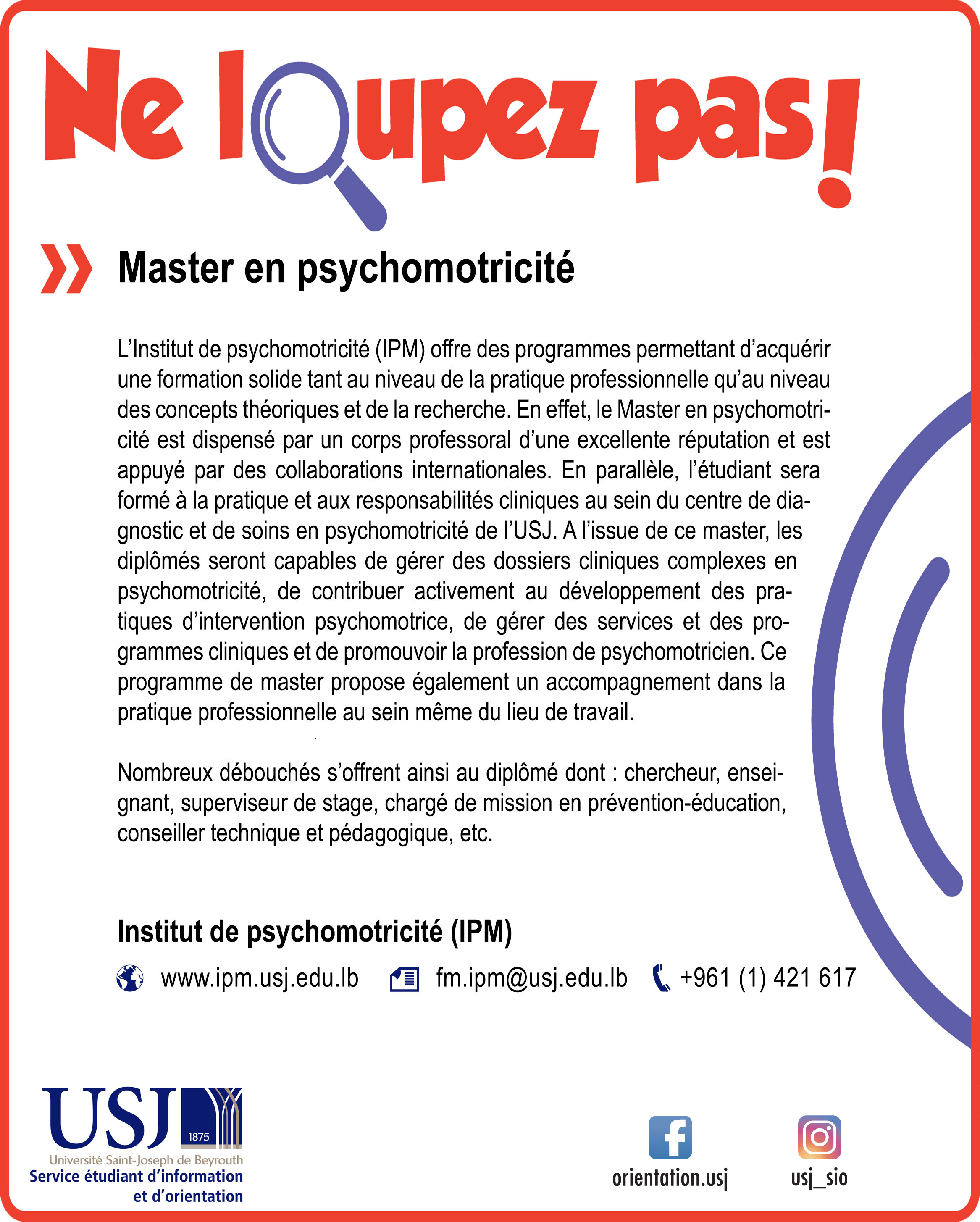 Master en psychomotricité