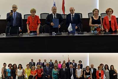 Signature de l'accord de partenariat entre ESMOD et USJ